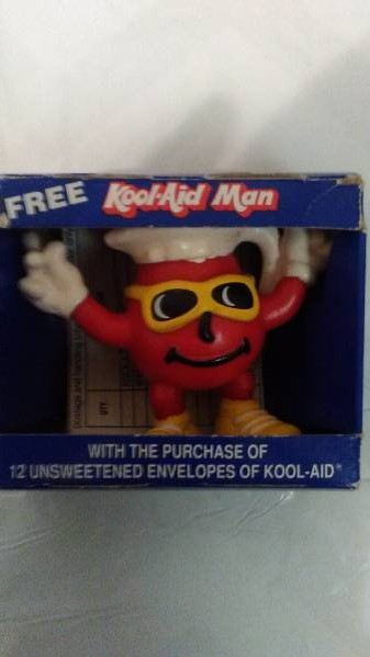 Kraft General Kool Aid man toy/catalog/totebag