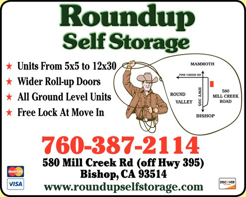 Self Storage near Mammoth Lakes and Bishop, CA